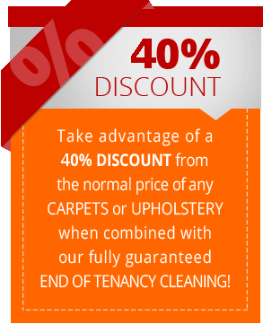 End of Tenancy Cleaning + 40% OFF Carpet / Upholstery